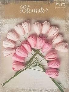 Bilde av Papirdesign - Tulipaner, store - Rosa