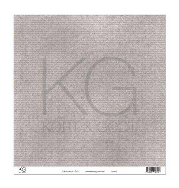 Kort & Godt - Mønsterpapir 108137 - Konfirmant - Grå - 7498