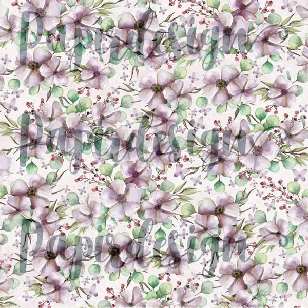 Papirdesign PD2100587 - Vårtegn - Blomsterfryd, lilla