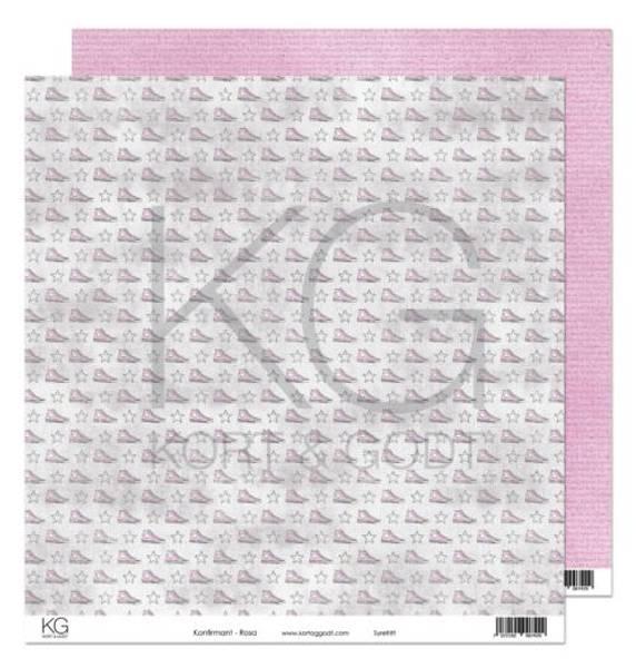 Kort & Godt - Mønsterpapir 108138 - Konfirmant - Rosa - 7429