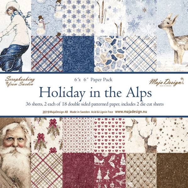 Maja Design - 1059 - Paper Pad 6x6 - Holiday in the Alps