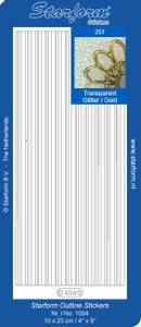 Bilde av Starform - Stickers - Border Lines - Transparent Glitter w/Gold