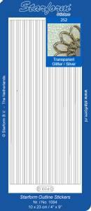 Bilde av Starform - Stickers - Border Lines - Transparent Glitter w/Silve