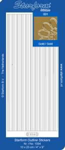 Bilde av Starform - Stickers - Border Lines - Gold - 10 pk