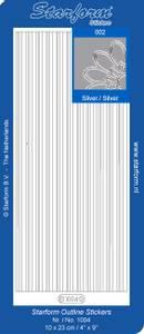 Bilde av Starform - Stickers - Border Lines - Silver - 10 pk
