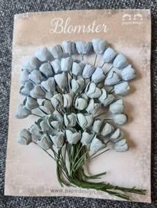 Bilde av Papirdesign - Tulipaner - Vintage blå