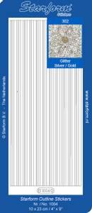 Bilde av Starform - Stickers - Border Lines - Glitter Silver w/Gold lines