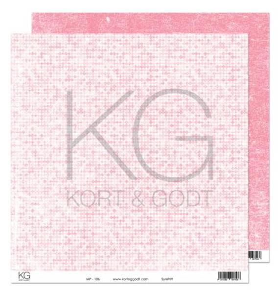 Kort & Godt - Mønsterpapir 108191 - MP-106 rosa - 7566