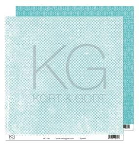 Bilde av Kort & Godt - Mønsterpapir 108193 - MP-108 turkis - 7726