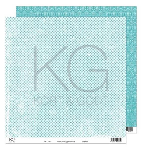 Kort & Godt - Mønsterpapir 108193 - MP-108 turkis - 7726
