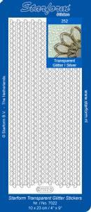 Bilde av Starform - Stickers - Heart Borders - Transparent Glitter Silver