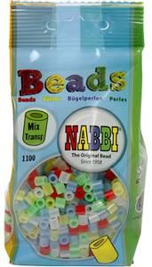 Bilde av Perler Midi - Nabbi Beads - Transparente farger - 1100stk