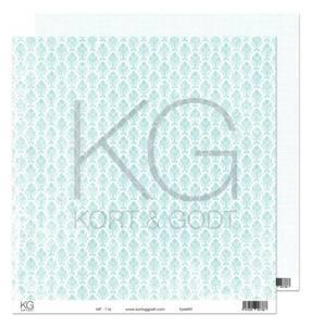 Bilde av Kort & Godt - Mønsterpapir 108201 - MP-116 turkis - 7788