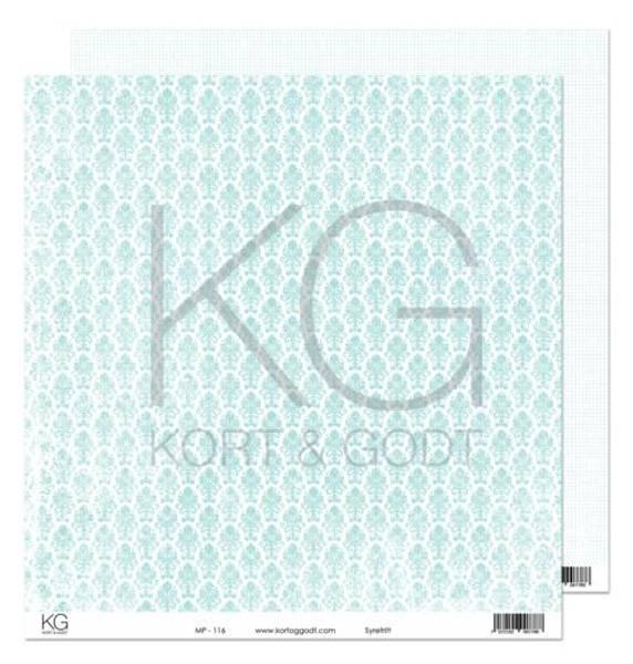 Kort & Godt - Mønsterpapir 108201 - MP-116 turkis - 7788