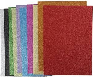 Bilde av Mosegummi - A4 - 2mm - 10 pk - Glitter - 10 farger