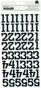 Bilde av Thickers - 53080 - Glitter Chipboard - Numbers - Black - Sprinkl