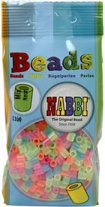 Bilde av Perler Midi - Nabbi Beads - Neon farger - 1100stk