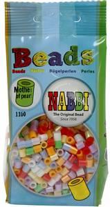 Bilde av Perler Midi - Nabbi Beads - Perlemor farger - 1100stk