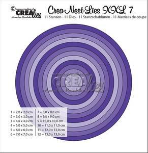 Bilde av Crealies - Crea-Nest-Lies XXL 07 - Smooth circles, whole cm