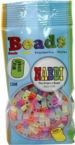 Bilde av Perler Midi - Nabbi Beads - Glitter farger - 1100stk