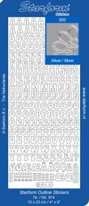 Bilde av Starform - Stickers - Klistremerker - Alfabet - Silver