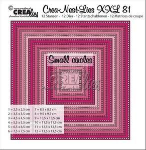 Bilde av Crealies - Crea-Nest-Lies XXL 81 - Squares with small circles