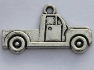 Bilde av Charms - Pickup truck - Sølv - 7 stk