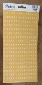 Bilde av Papirdesign - Alfabet - 107 - Gul