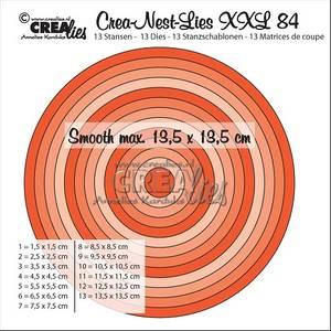 Bilde av Crealies - Crea-Nest-Lies XXL 84 - Smooth circles half cm