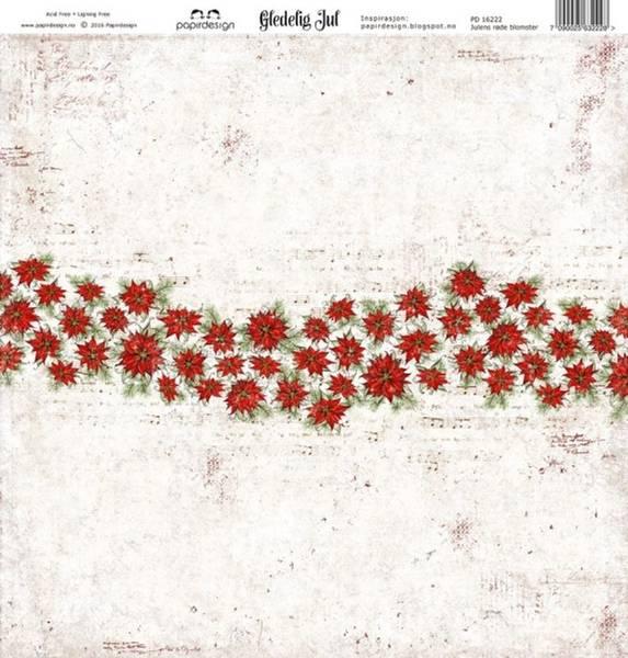 Papirdesign PD16222 - Gledelig jul - Julens røde blomster