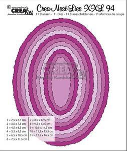 Bilde av Crealies - Crea-Nest-Lies XXL 94 - Ovals with rough edges