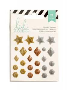 Bilde av American Crafts - Heidi Swapp - Enamel Shapes - Metallic Glitter