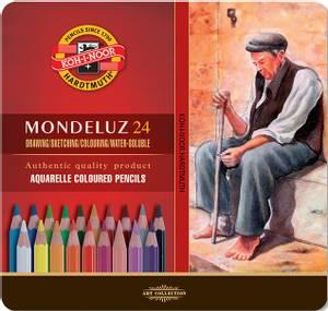 Bilde av Koh-I-Noor - Mondeluz - Akvarell blyanter - 24stk