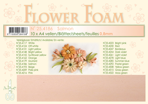 Bilde av Leane Creatief - Flower Foam - A4 - 0.8mm. - Salmon - 1 stk