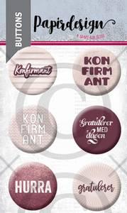 Bilde av Papirdesign - Buttons - 2000458 - Konfirmant 5, rosa