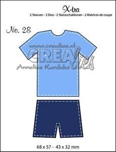 Bilde av Crealies - Dies - X-tra 28 - Sports outfit