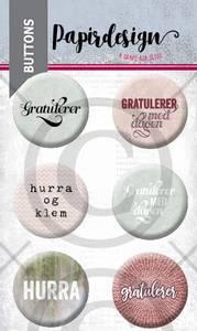 Bilde av Papirdesign - Buttons - 2000457 - Gratulerer 2, rosa