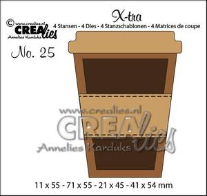 Bilde av Crealies - Dies - X-tra 25 - Mug to go (small)