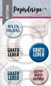 Bilde av Papirdesign - Buttons - 2000467 - Gratulerer 5