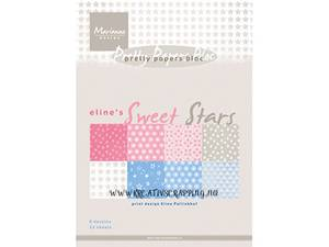 Bilde av Marianne Design Paper - 7051 - A5 - Elines Sweet Star