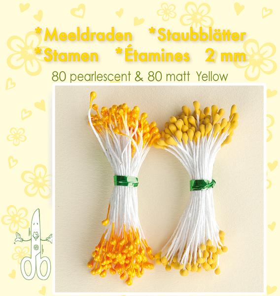 Leane Creatief - Stamen - 80 matt & 80 pearl - Yellow