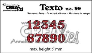 Bilde av Crealies - Dies - Texto  99 - Numbers small