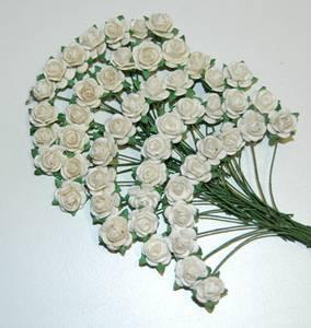 Bilde av Papirdesign - Roser - 1,0cm - Hvit, bare hvit