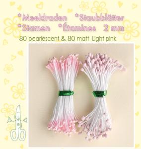 Bilde av Leane Creatief - Stamen - 80 matt & 80 pearl - Light Pink