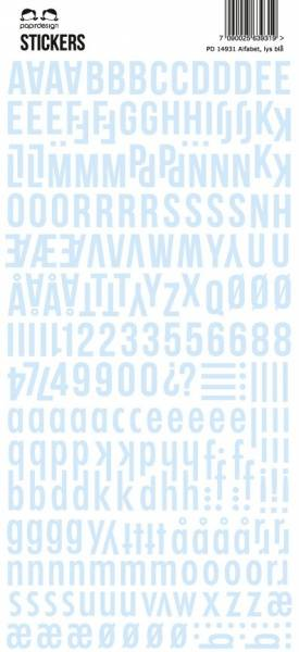 Papirdesign - Alfabet - 14931 - Lys Blå