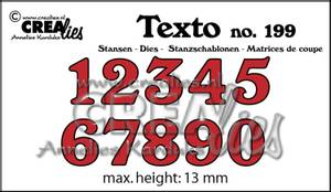 Bilde av Crealies - Dies - Texto 199 - Numbers medium