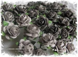 Bilde av Papirdesign - Roser - 1,0cm - Grå