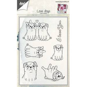 Bilde av Joy Crafts - Clear stamps - 6410-0442 - Love dogs