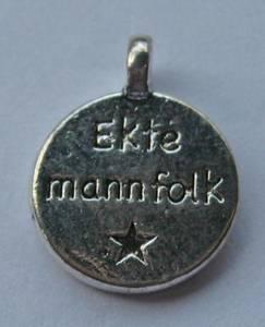 Bilde av Charms - Tekst - Rund - Ekte mannfolk - 8 stk