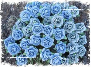 Bilde av Papirdesign - Roser - 1,2cm - Vintage blå